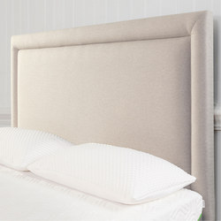 Moulton Border Headboard Tweed Moonlight Grey