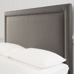 Moulton Border Headboard Tweed Grey