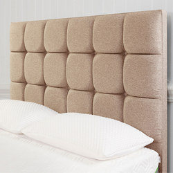 Moulton Buttoned Headboard Tweed Malt Beige