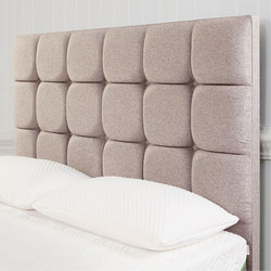 Moulton Buttoned Headboard Tweed Moonlight Grey