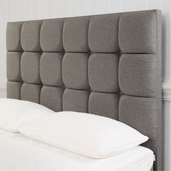 Moulton Buttoned Headboard Tweed Grey