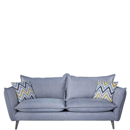 San Remo Sofa Helix Quilt Silver Helix Quilt Silver