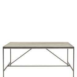 Forte Dining 180 Table with Metal Base
