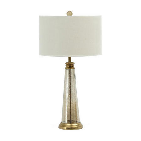 Regal Antique Brass And Glass Table Lamp Brown