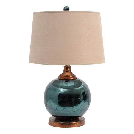Teal Mercury Sphere Lamp Base  Multi Colour