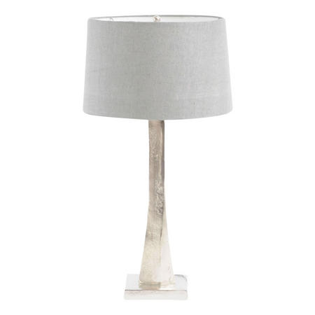 Trinity Nickel Aluminium Table Lamp Silver-Tone