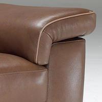B757 Brivido Small Leather Sofa