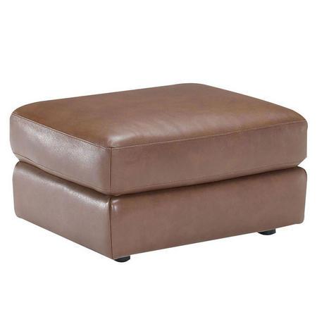 B757 Brivido Leather Ottoman