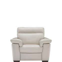 B757 Brivido Leather Armchair With Power Recliner