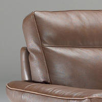 B757 Brivido Small Leather Sofa With Two Power Recliners