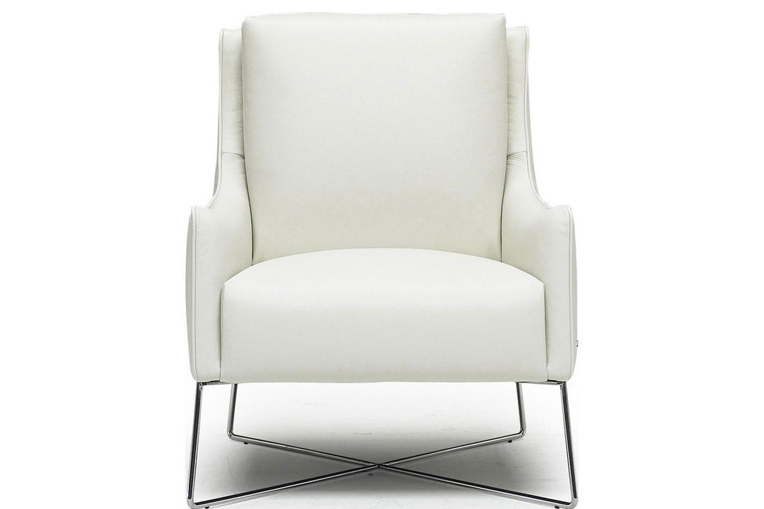 B903 Leather Regina Armchair White