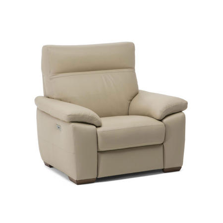 C007 Empatia Leather Armchair With Recliner 10BL
