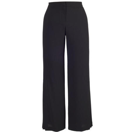 Pleat Trim Trouser Black