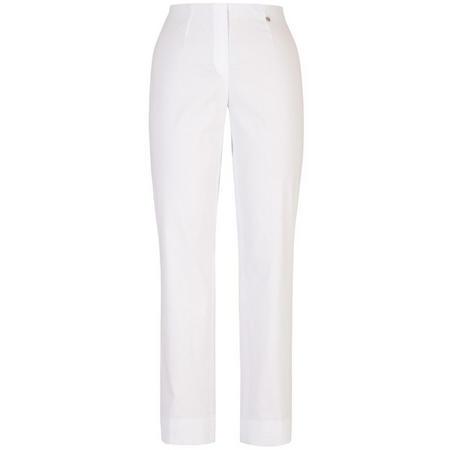 Slim Stretch Trouser White