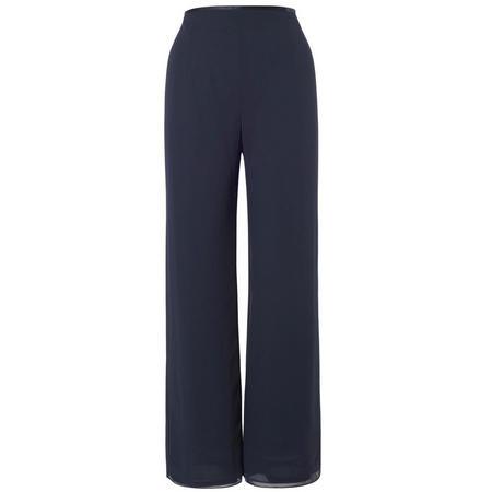 Jersey Lined Chiffon Pant Navy