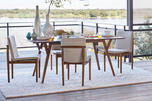 Framework Dining Chair Stone Twill/Walnut