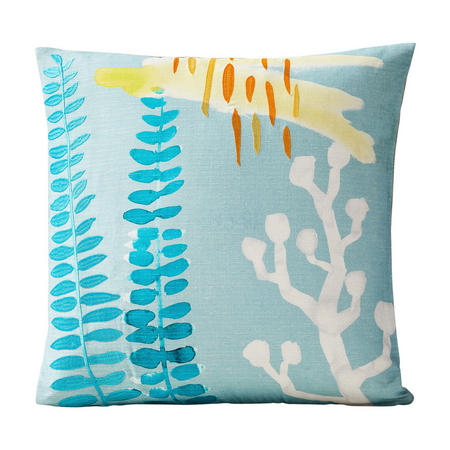 Watercolour Garden 46x46 Cushion Cover, Fern Light Pool