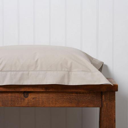 200 Plain Dye Oxford Square Pillowcase Stone