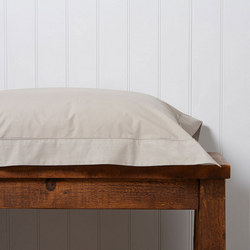 200 Plain Dye Oxford Square Pillowcase Stone