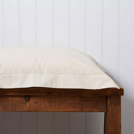 200 Plain Dye Oxford Square Pillowcase Parchment