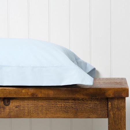 200 Plain Dye Oxford Square Pillowcase Sky Blue