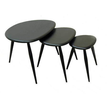 Pebble Nest Of Tables Black