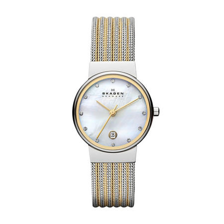 Ladies Ancher Watch Silver & Gold