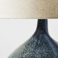 Assymetric Ceramic Table Lamp Speckled Moss