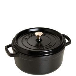 Cocotte Round Cast Iron 24 Cm Black