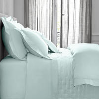 Triomphe Aqua Oxford Pillow Case Blue