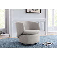 Crescent Swivel Chair Feather Grey