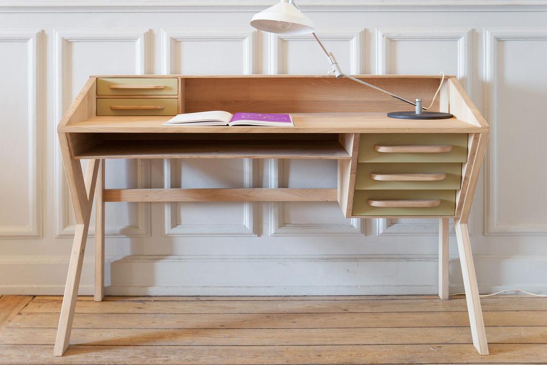 Origami 45021 5 Drawer Desk Olive