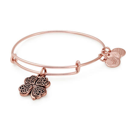 Four Leaf Clover Shiney Rose Bangle