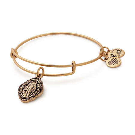 Mother Mary Charm Bangle Gold