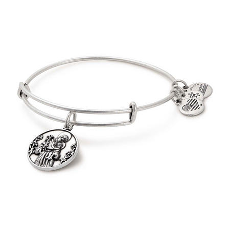 St. Anthony Charm Bangle Silver