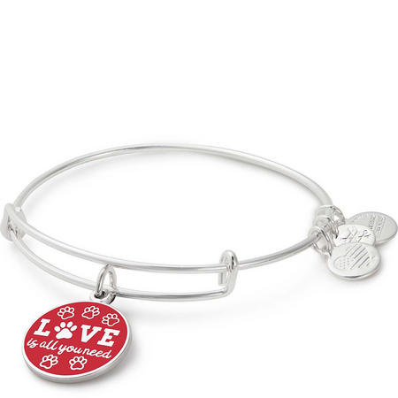 Love is All You Need Charm Bangle Shiney Silver
