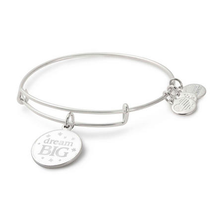 Dream Big Charm Bangle Shiney Silver