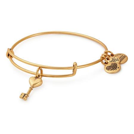 Key to Love Charm Bangle Gold