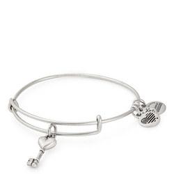 Key to Love Charm Bangle Silver