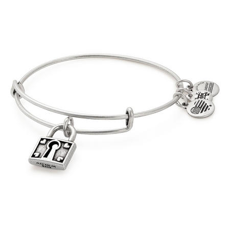 Unbreakable Love Charm Bangle Silver