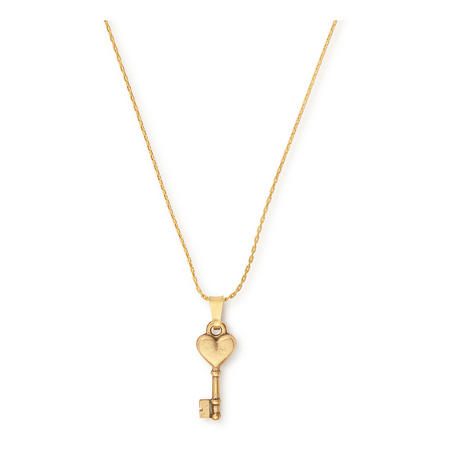Key to Love Expandable Necklace Gold