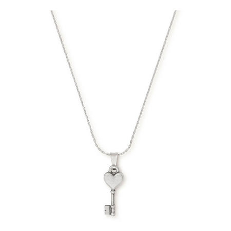 Key to Love Expandable Necklace Silver