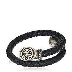 Men's Path of Life Braided Leather Wrap