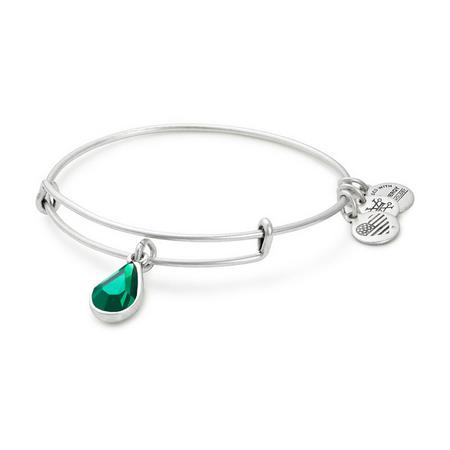 Swarovski Teardrop May Emerald Rafaelian Silver