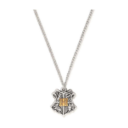 Harry Potter Hogwarts Two Tone Necklace Silver