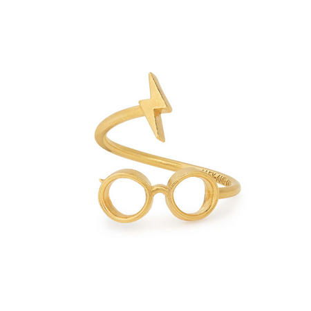 Harry Potter Glasses Ring Wrap Gold