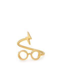 Harry Potter Glasses Ring Wrap Gold