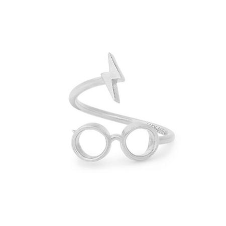 Harry Potter Glasses Ring Wrap Silver