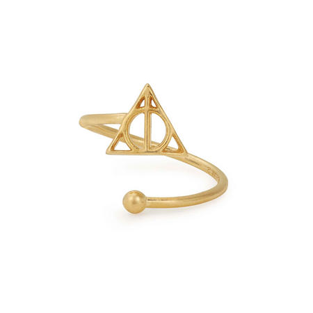 Harry Potter Deathly Hallows Ring Wrap Gold