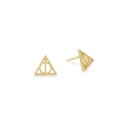 Harry Potter Deathly Hallows Earrings Gold
